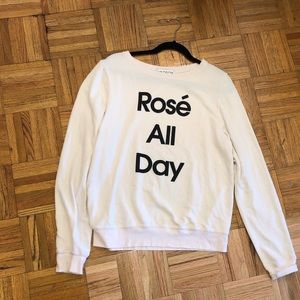 Wildfox Rosé all Day Sweatshirt